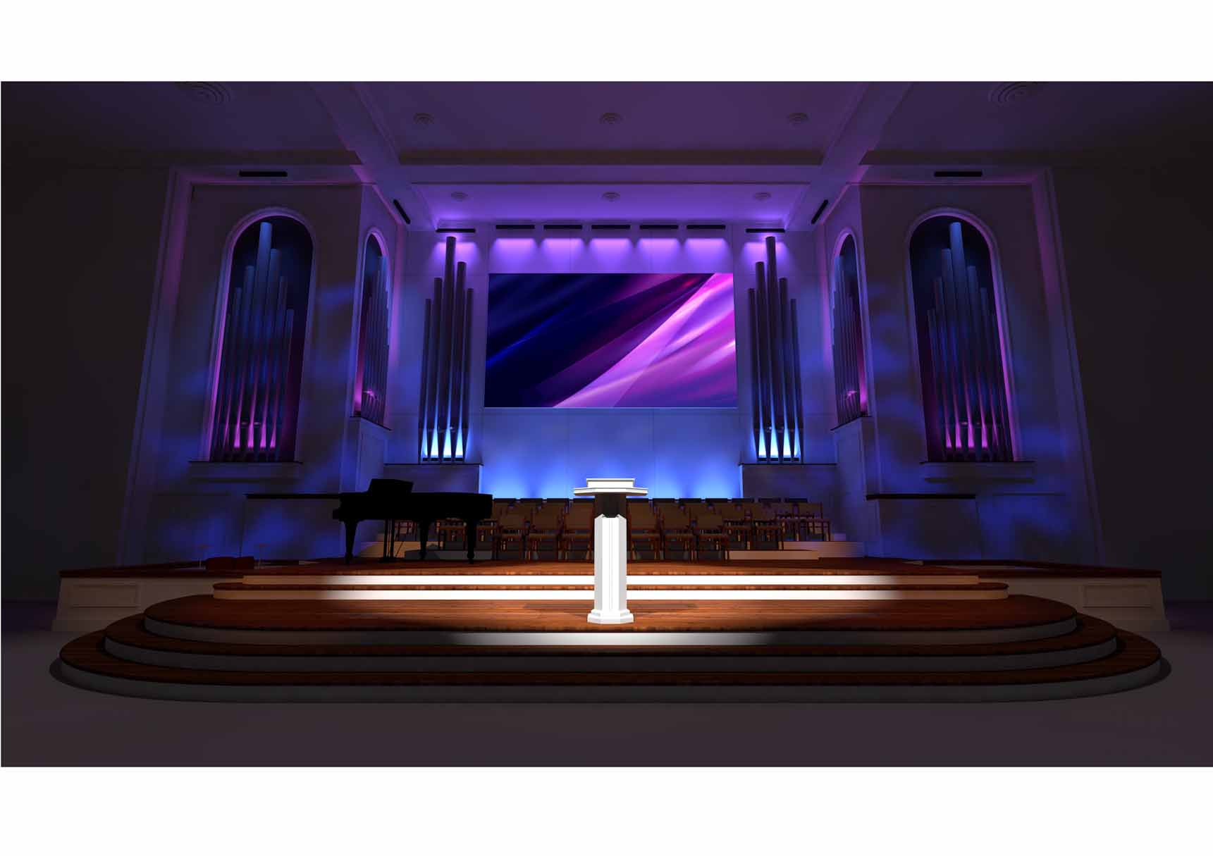 Church Stage Rendering