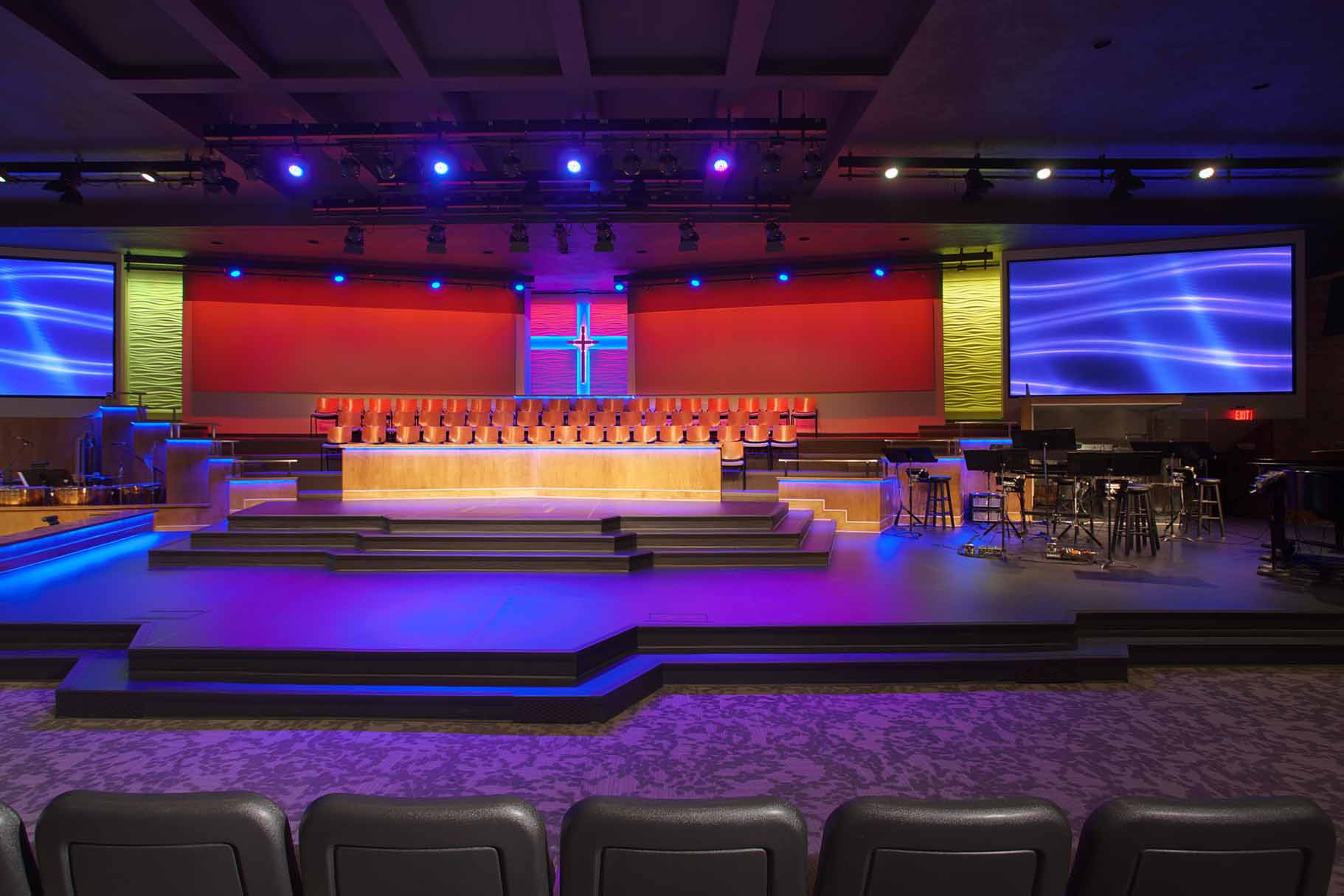 Church Sound Video and Lighting Design Installation