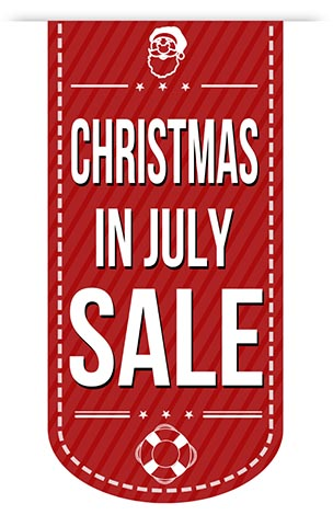 Christmas in july sale banner design