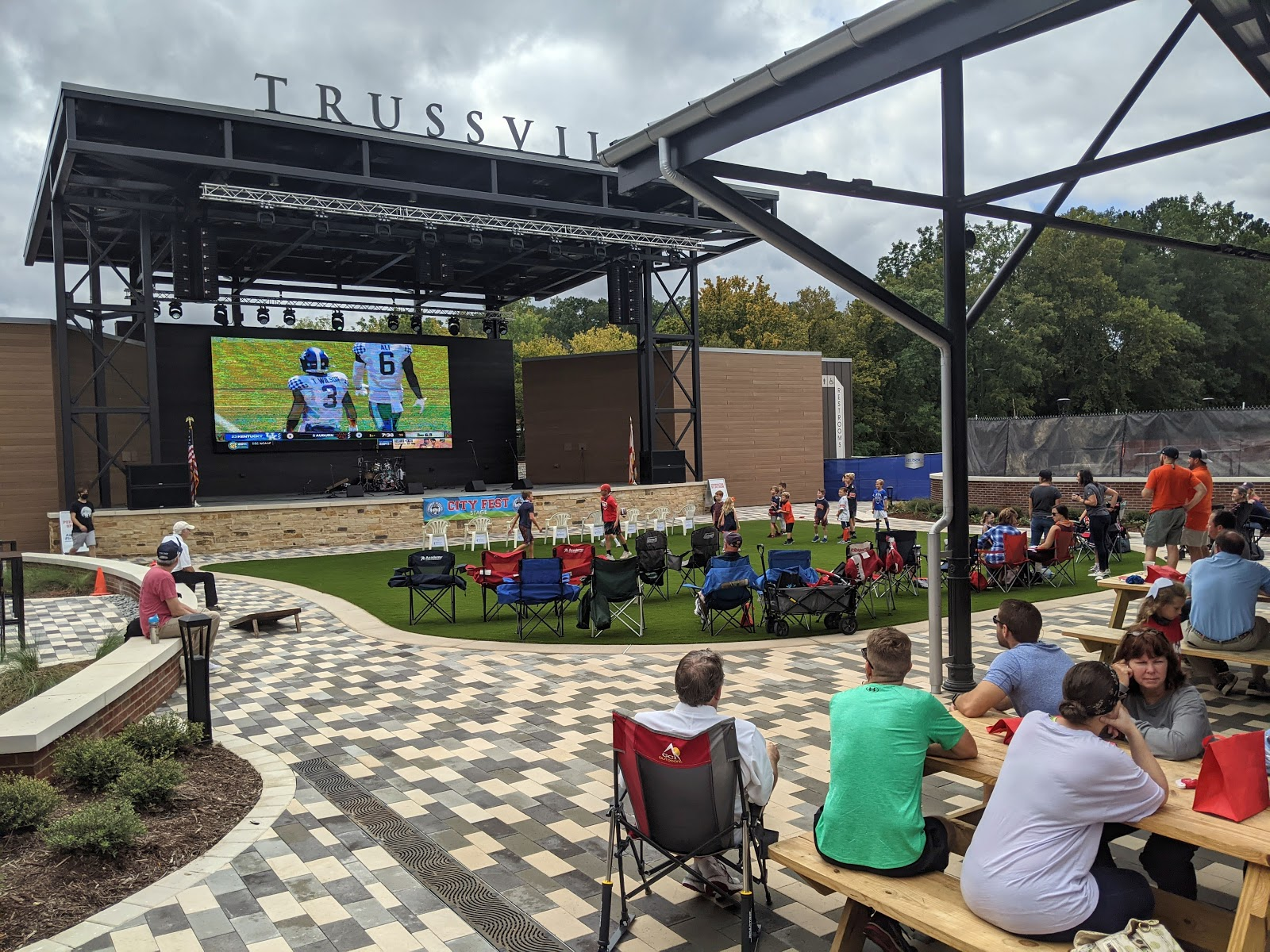 The Trussville pavilion welcomed the kick-off of SEC football, September 26, 2020.