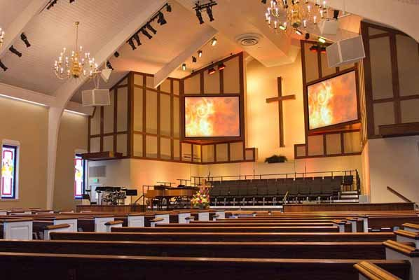 Trinity Baptist Church AV installation project